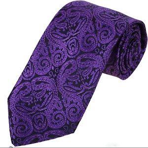 Neck Tie Purple Paisley